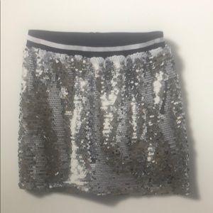 Varsity sequin skirt